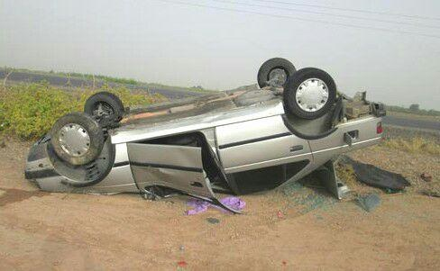 راننده پژو به بیرون از خودرو پرتاب شد و جان باخت