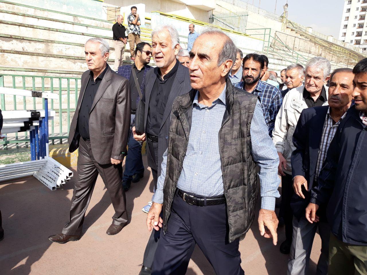 تصاویر | تشییع پیکر ابراهیم آشتیانی در غیاب بازیکنان پرسپولیس