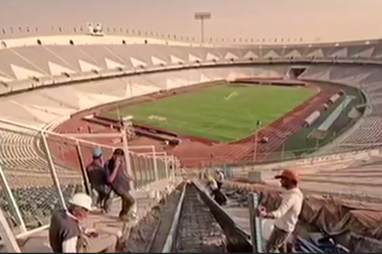 فیلم   آخرین گزارش از روند تعمیرات استادیوم آزادی