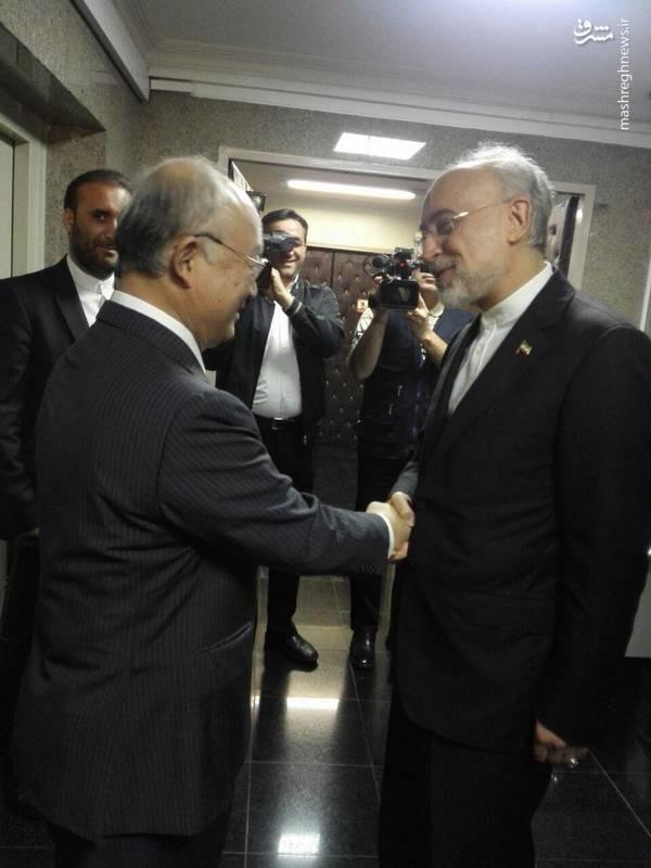 تصاویر   دیدار آمانو با مرد هستهای ایران