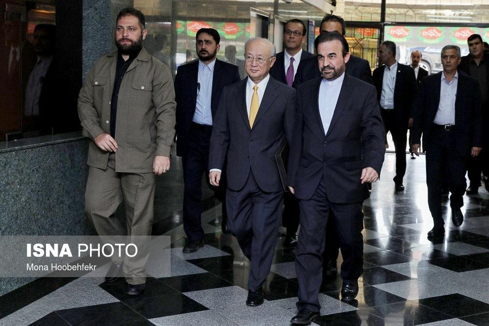 تصاویر | دیدار آمانو با مرد هستهای ایران