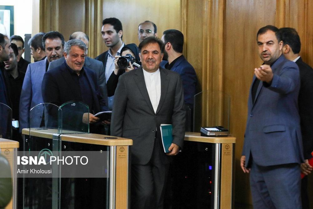 تصاویر | وزیر راه در جلسه علنی شورای شهر تهران
