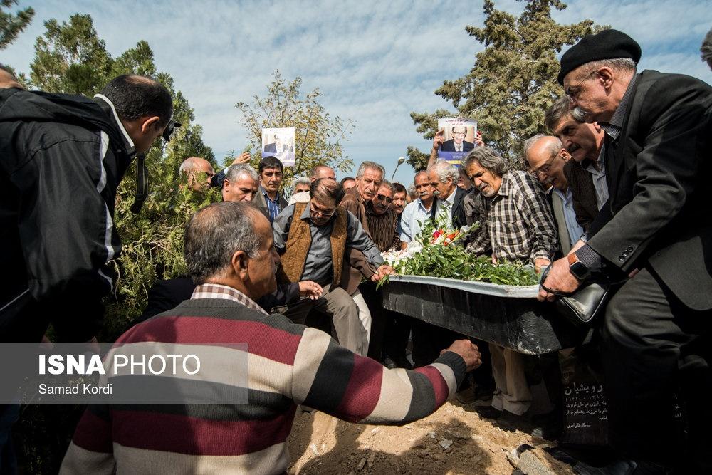 تصاویر | تشییع و خاکسپاری علیاشرف درویشیان