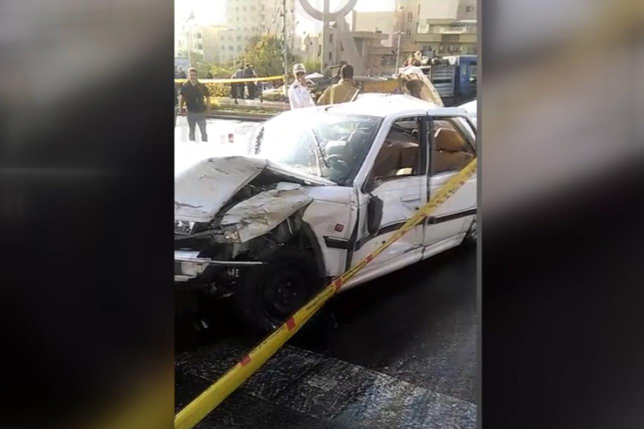 فیلم | تصادف شدید ۱۱ خودرو در ولنجک