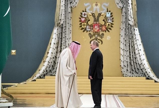 تصاویر | دیدار پوتین و پادشاه عربستان در کاخ کرملین
