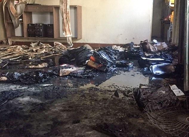 تصاویر | آتشسوزی عمدی در یک مهدکودک | ۴ کودک برزیلی در آتش سوختند