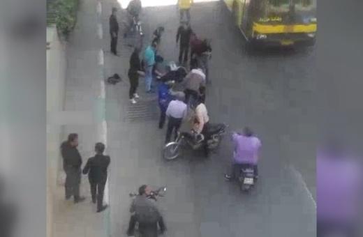 فیلم | سقوط ۲ دختر دبیرستانی از بالای پل چمران