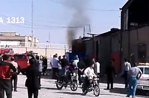 فیلم | آتشسوزی در انبار سیلندرهای گاز LPG در قم