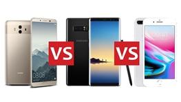 مقایسه فنی سه گوشی هوآوی میت ۱۰ پرو با نوت ۸ سامسونگ و آیفون ۸ پلاس