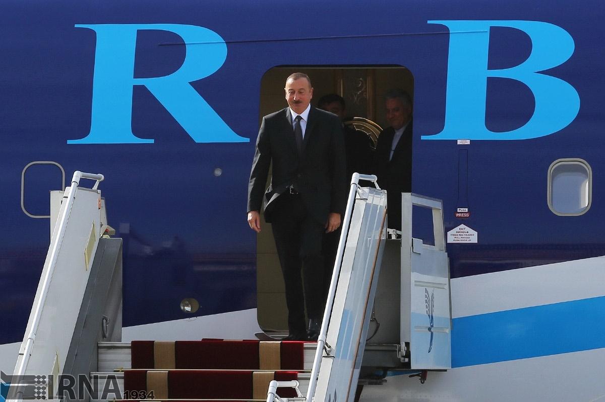 تصاویر | ورود رئیسجمهوری آذربایجان به تهران