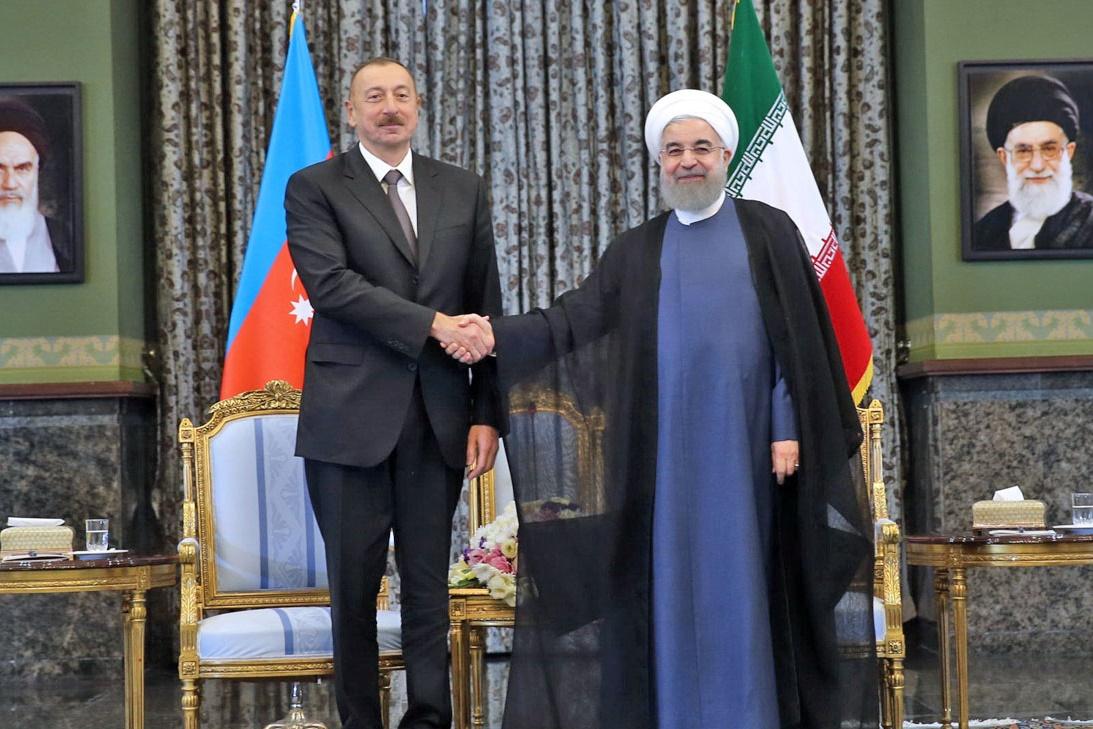 فیلم | دیدار روسای جمهور ایران و آذربایجان