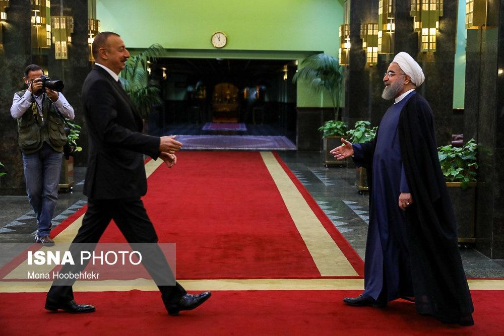 تصاویر | دیدار الهام علیاف رئیسجمهور آذربایجان با حسن روحانی