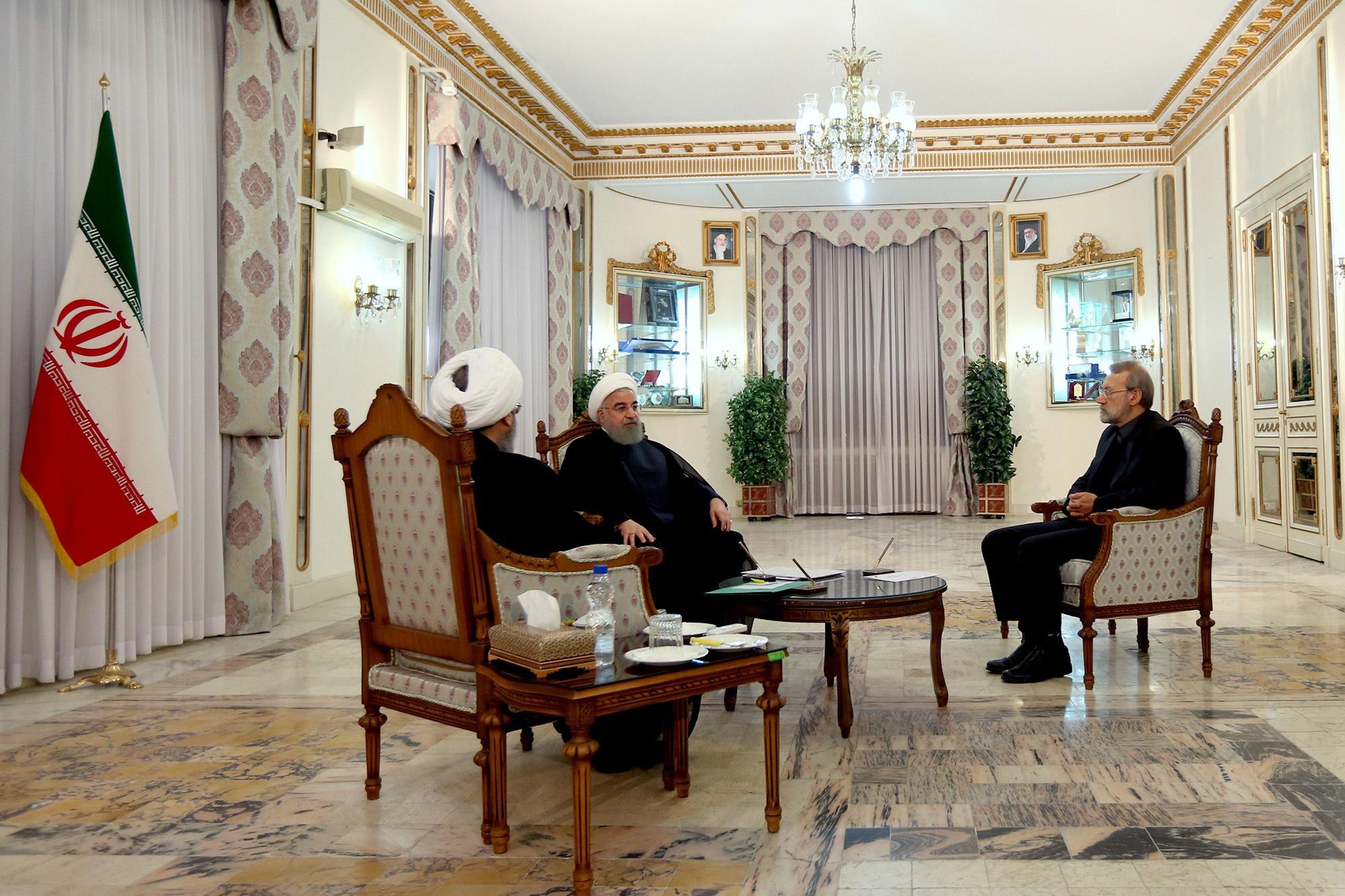 تصاویر | جلسه سران سه قوه با موضوع مهمترین مسائل کشور و منطقه