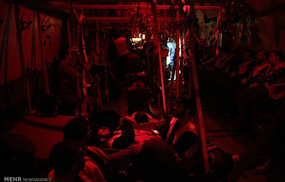 تصاویر | انتقال مصدومان زلزله کرمانشاه به تهران