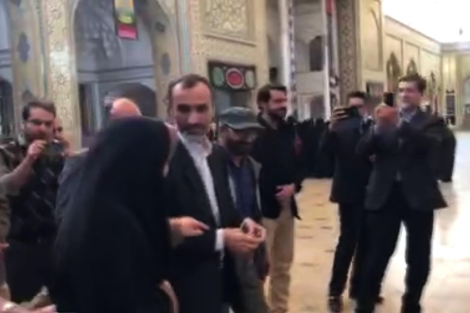 فیلم   بستنشینی بقایی و جوانفکر در حرم حضرت عبدالعظیم(ع)