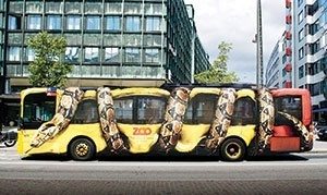 ابتکار دیدنی در تبلیغات اتوبوسی دانمارک