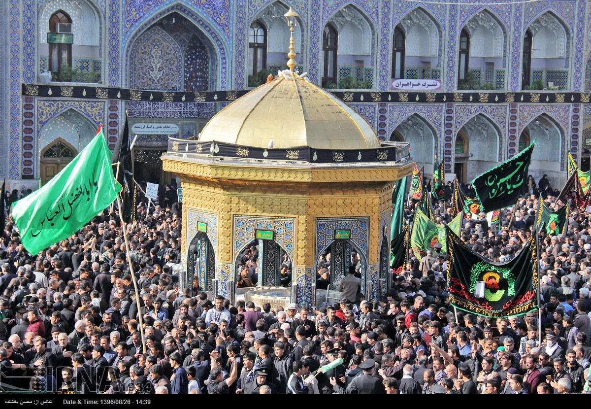 تصاویر | حال و هوای حرم امام رضا(ع) در روز ۲۸صفر
