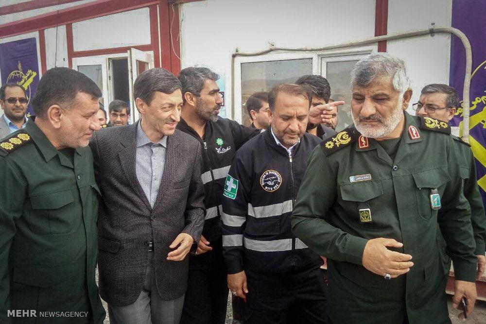 تصاویر | بازدید رئیس کمیته امداد از مناطق زلزلهزده کرمانشاه