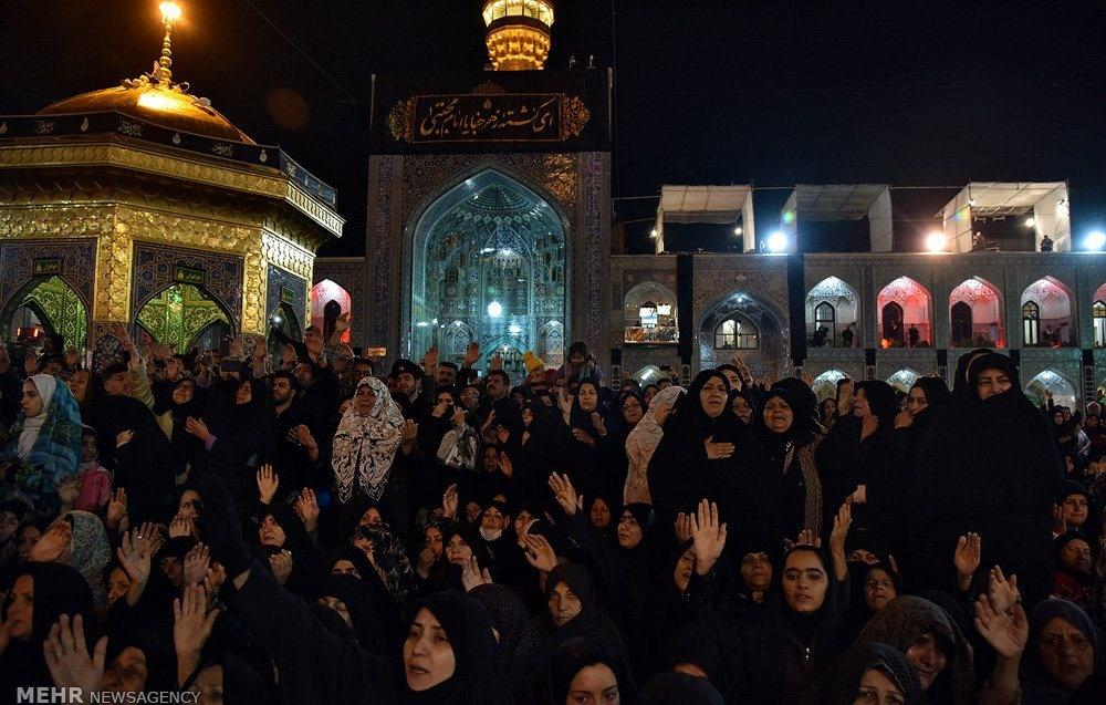 تصاویر | مراسم شام غریبان امام رضا(ع) در مشهد 