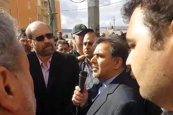 فیلم | وزیر راه در سفر دوم به کرمانشاه: اقساط مسکن مهر آسیب دیده ۲ سال متوقف میشود