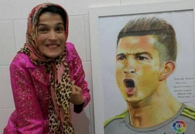 تقدیر فدراسیون فوتبال اسپانیا از بانوی هنرمند ایرانی