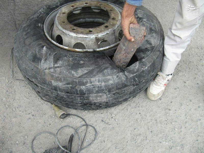 عکس   جاسازی ۱۸۴ قطعه شمش مس در یک کامیون