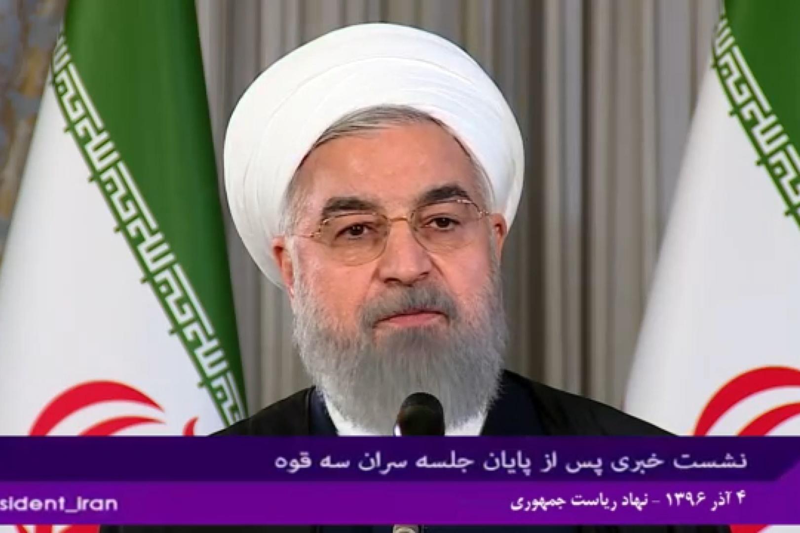 فیلم | روحانی: آرامش در منطقه با اسلحه و حمایت آمریکا و صهیونیستها ممکن نیست