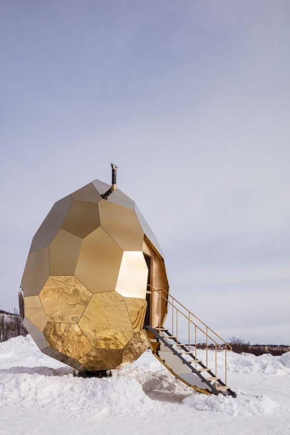 تصاویر   تخممرغ طلایی سوئدیها که یک سونای لوکس است