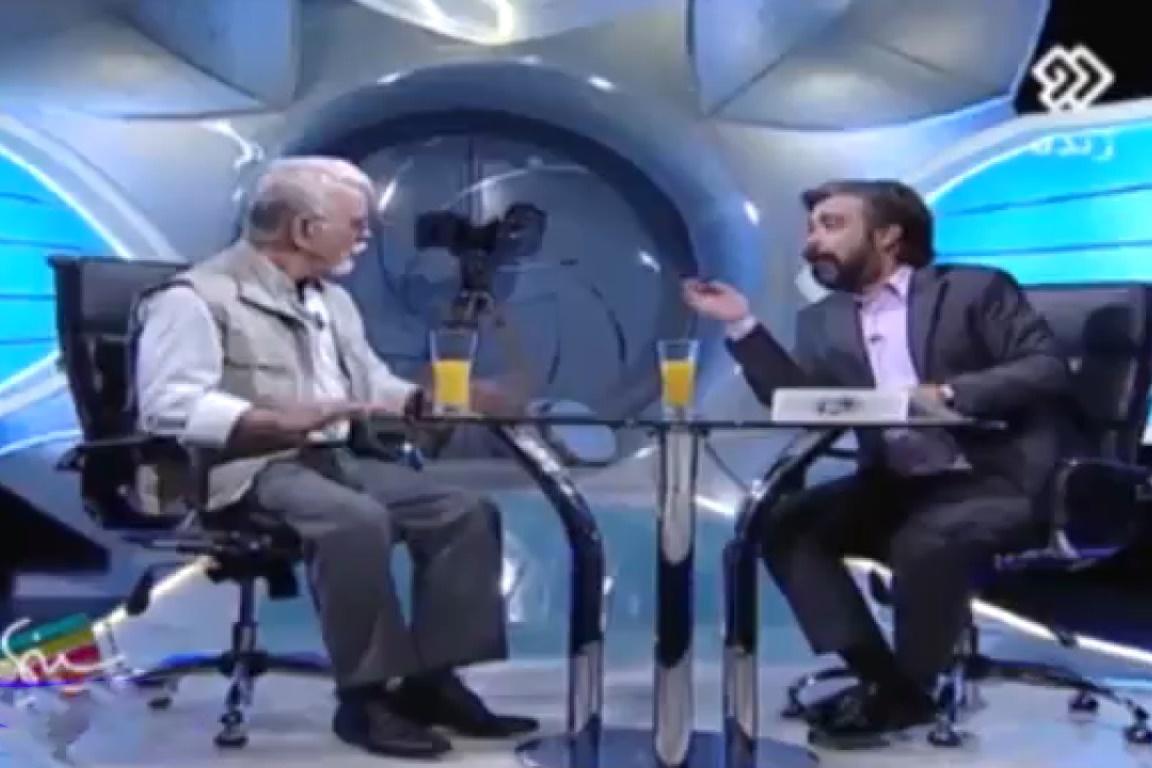فیلم   قهر مهدی فخیمزاده در برنامه زنده تلویزیونی