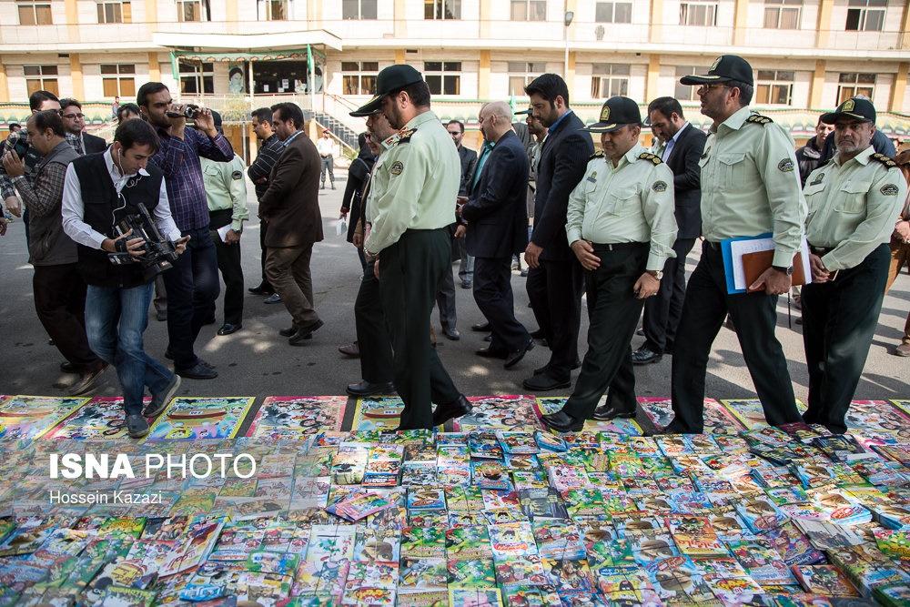 تصاویر | کشف بیش از ۱۱میلیون سیدی غیرمجاز در پایتخت
