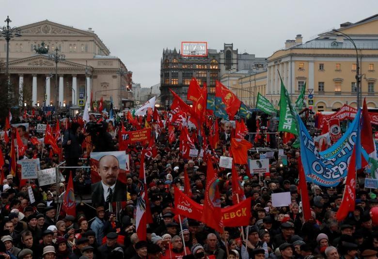 تصاویر | جشن صدسالگی انقلاب بلشویکی در روسیه