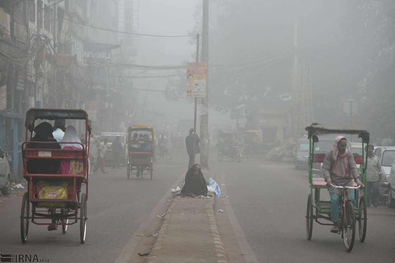 تصویری هولناک از آلودگیهوا در دهلی، پایتخت هند