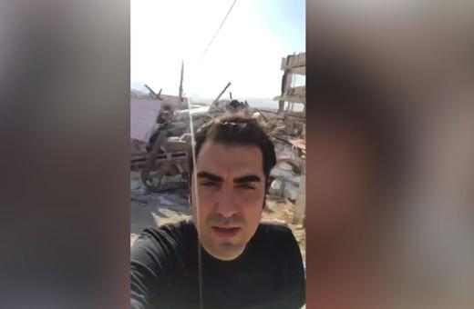 فیلم | روایت حافظ ناظری از مسکن مهر تخریب شده سرپلذهاب