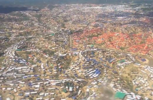 فیلم | تصاویر هوایی از اردوگاه آواره ۸۰۰ هزار روهینگیایی
