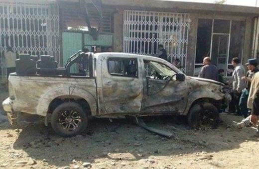 فیلم |  لحظه خروج خودروی بمبگذاری شده داعش از سوله مخفی