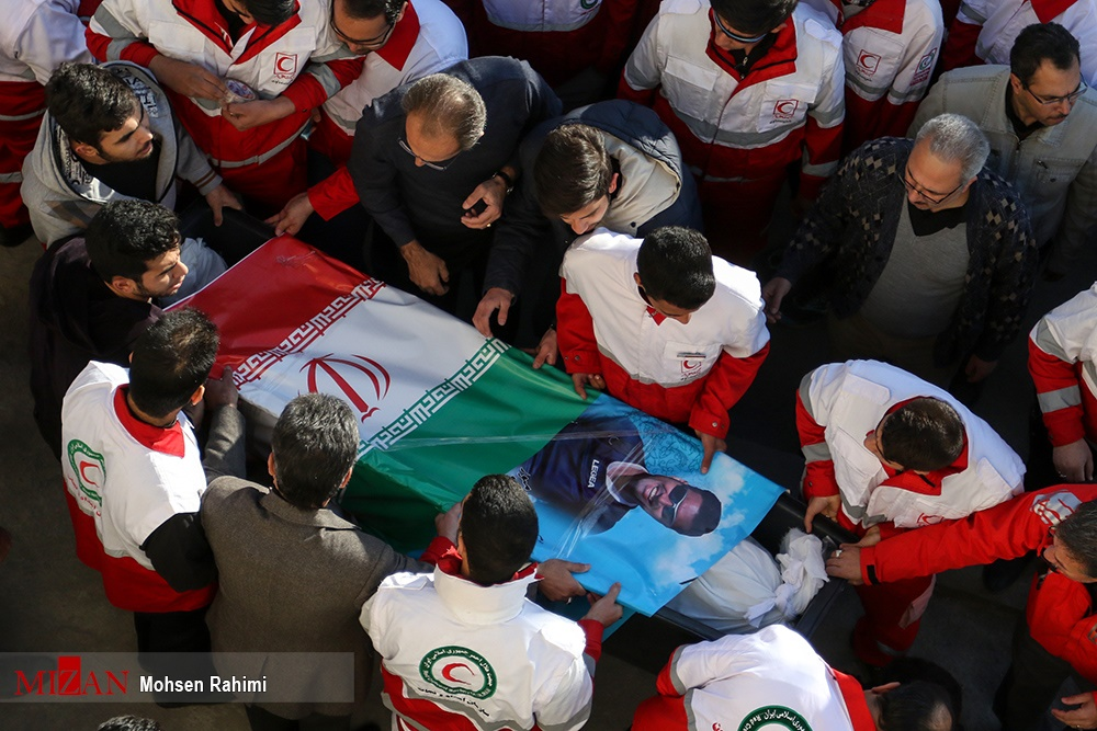 تصاویر | مراسم تشییع کوهنوردان جانباخته در اشترانکوه