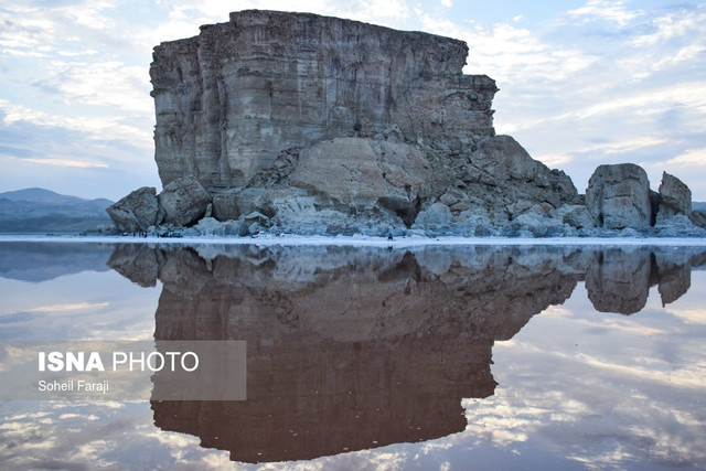 دریاچه ارومیه بازهم خشکتر شد؛ ۲۱ سانتیمتر
