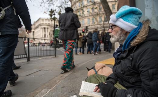 تصاویر   بیخانمانهای انگلیس در آستانه کریسمس