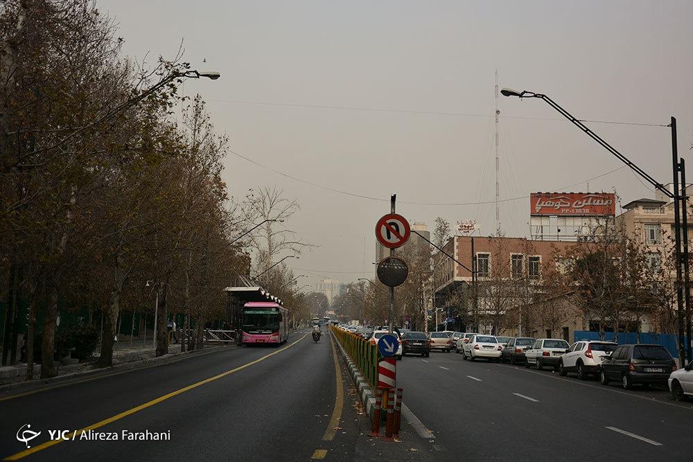 تصاویر | نمای پایتخت با شاخص آلودگی ۱۴۸