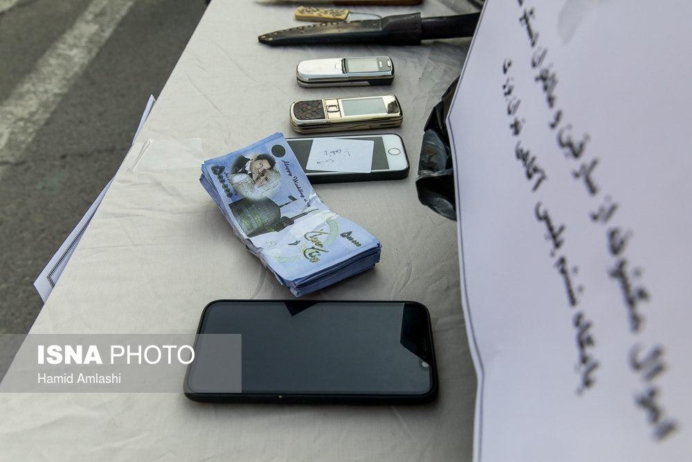 تصاویر   بازداشت ۱۳۷ سارق خشن در تهران