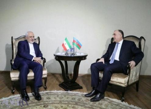 ظریف با وزیر خارجه آذربایجان دیدار کرد/ عکس