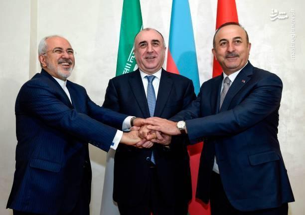 تصاویر | نشست سهجانبه ایران، آذربایجان و ترکیه