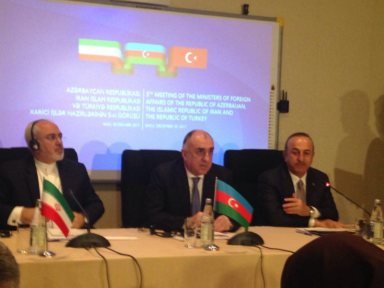 بیانیه پایانی نشست وزرای امور خارجه ایران، ترکیه و آذربایجان