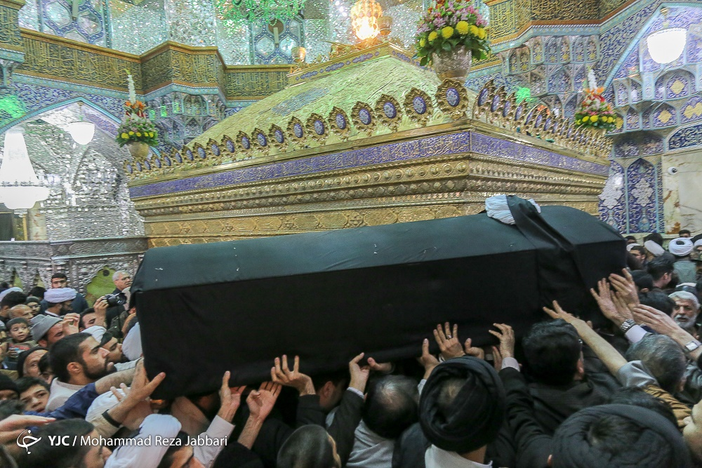 تصاویر | تشییع پیکر آیت الله حائری شیرازی در قم