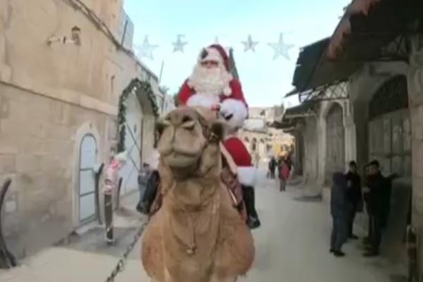 فیلم | آغاز جشنهای کریسمس در بیتالمقدس