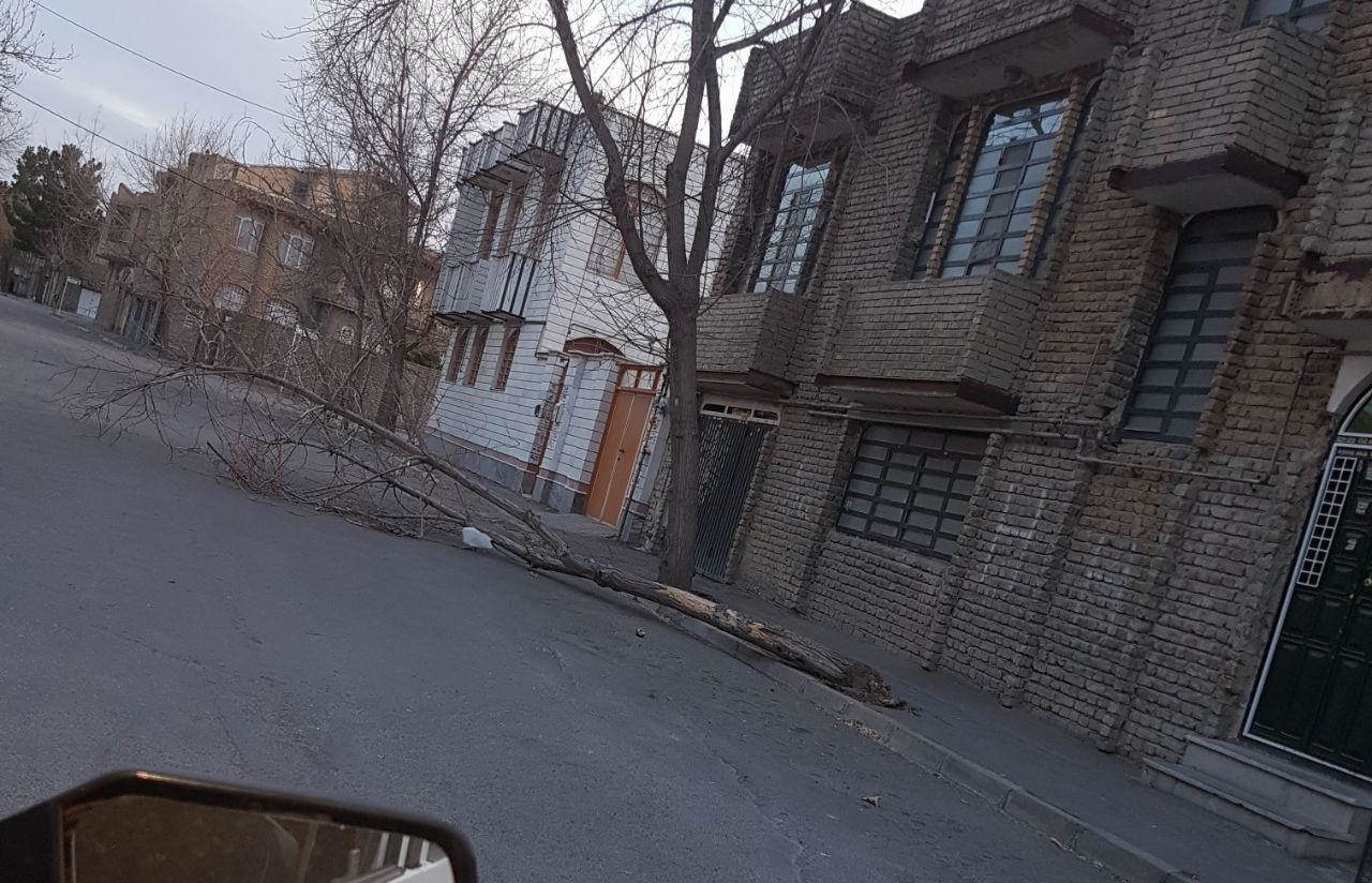 تصاویری از خسارت تندباد در ارومیه