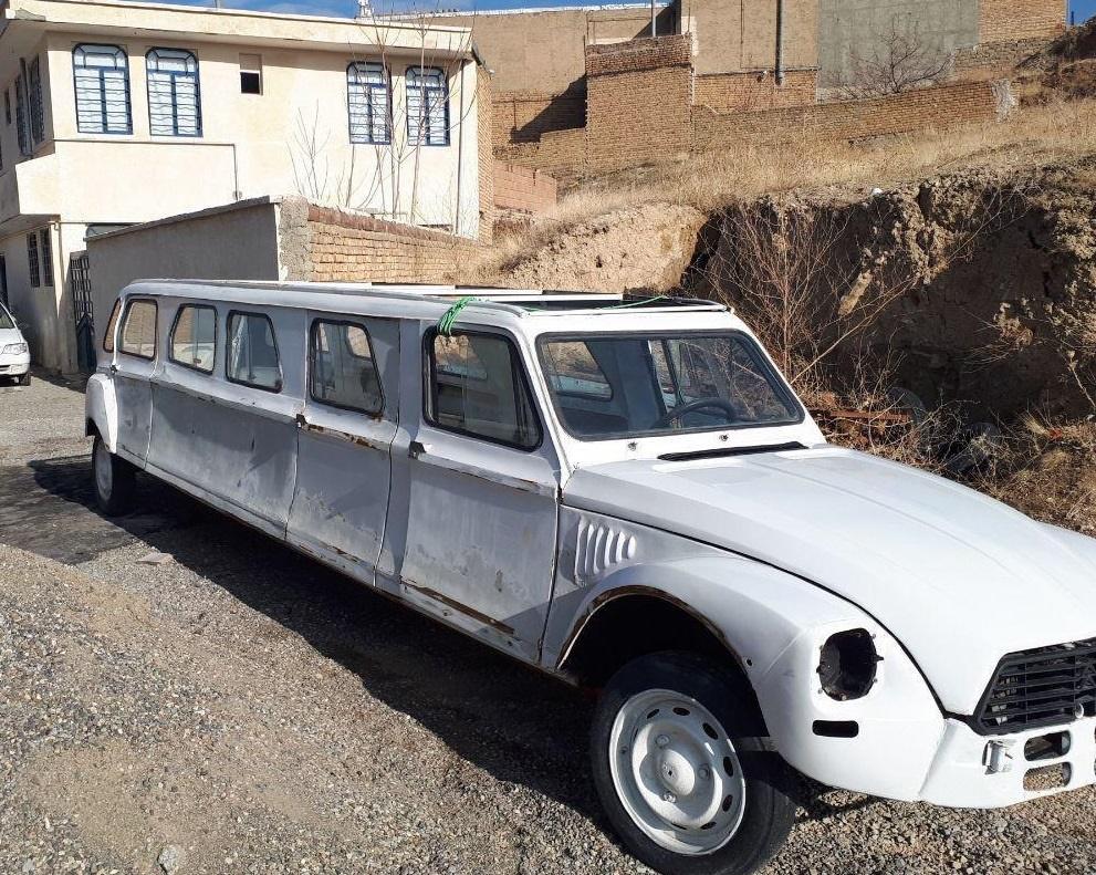 خودرو ژیان با ساختار لیموزین در خیابانهای ارومیه !