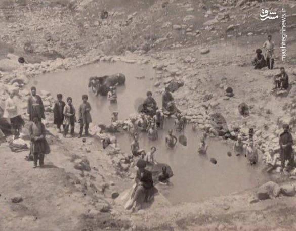 عکس   آبگرم سرعین در زمان قاجار