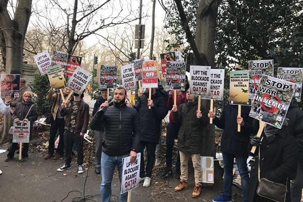 فیلم   تجمع معترضین به حمایت تسلیحاتی انگلیس از عربستان و امارات در لندن