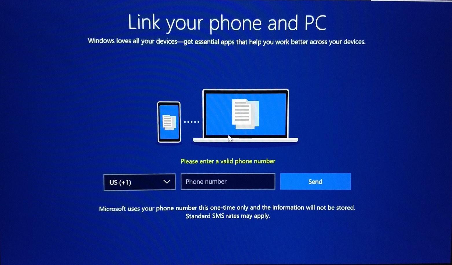 اجبار به واردکردن شماره موبایل هنگام آپدیت جدید ویندوز ۱۰